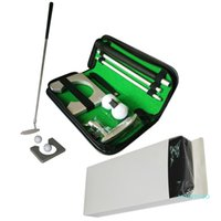 3 en un putter portátil Putter Prett Set Golfs Ball Holder Poner Herramienta de capacitación de ayudas con la bolsa de transporte.