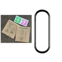 Soft PMMA + PC 3D Curved Curved Cover Screen Protector Films pour la bande Xiaomi MI 6 5 4 100 pcs / lot dans le paquet de détail