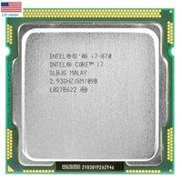 يستخدم Intel Core I7-870 2.93 جيجا هرتز رباعي النواة 95W سطح المكتب المعالج المقبس 1156 في الولايات المتحدة الأمريكية
