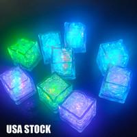 Polycherome Flash Hele Cub Colors Otros Lights Up Cube de plomo para beber Blanco Novedad Night Light Party Lighting Bar Club Pub KTV USA Stock