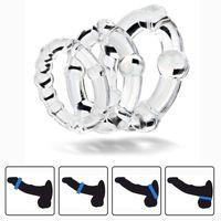 Set di 3pcs durevole cazzo anelli perline anello pene maschio ritardo eiaculazione erezione anello di erezione anello per uomo adulti