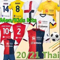 20 21 Cagliari Calcio Soccer Jerseys 홈 멀리 Joao Pedro Simeone Nainggolan Godin 축구 셔츠 Pavoletti Men Kiduomini 유니폼