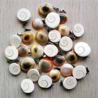 Wholesale 50pcs lot fashion natural Snail shape charms pendants for jewelry Accessories making 211014