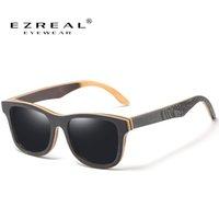 Sonnenbrille Ezreal Marke Designer Männer Polarisierte Schwarz Skateboard Holz Retro Vintage Eyewear Dropshipping