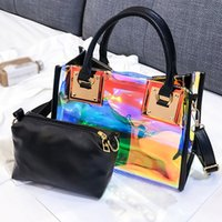 Bag Handbag Bags Chain PVC Women's High Designer-Holographic Designer Quality Big Capacity Transparent Shoulder Messenger Jelly Qillo