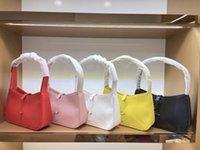 패션 럭셔리 디자이너 여성 가방 핸드백 100 % 정품 가죽 간단한 배열 절묘한 미니 Satchel 겨드랑이 화장품 보석 상자
