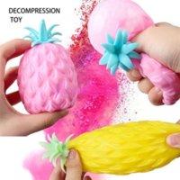 DHL Nakliye Komik Yumuşak Ananas Anan Anti Stres Topu Stres Rahatlatıcı Oyuncak Çocuklar için Yetişkin Fidget Oyuncaklar Squishy Antistress Yaratıcılık Sevimli Meyve Oyuncak