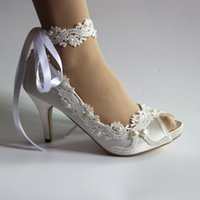 """Dress Shoes 3"""" Wedding Woman's Vintage Lace Peep Toe Bridal Maid Of Honor Bridesmaid Mother The Bride"""