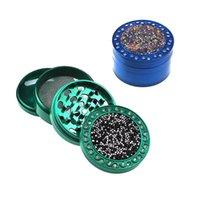 Moedor de erva da erva do fumo do tabaco de metal 4 camada 63mm Diâmetro Luxo Detector de tubos de tubulação de moagem Acessórios para filtro