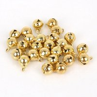 Stroller Parts & Accessories 6mm 100Pcs Christmas Small Colored Gold Bells Diy Handmade Bracelet Weaving Pendants Charms Jingle Holiday Orna