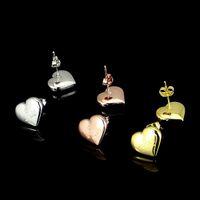 Mai dissolvenza no allergie borchie di nozze di alta qualità gioielli stravaganti di alta qualità in acciaio inox oro argento rosa placcato cuore amore g orecchini per ragazze donne