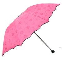 3 مطوية الغبار المضادة للأشعة فوق البنفسجية مظلات ظلة مظلة ماجيك زهرة قبة الشمس المحمولة HWD5983