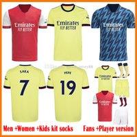 2021 2022 Arsen Futbol Formaları Oyuncu Verison Kadınlar Lady Çocuk Kiti 21 22 22 Pepe Saka Willian Nicolas Ceballos Guendouzi Tierney Henry Camisa de Futebol Futbol Gömlek