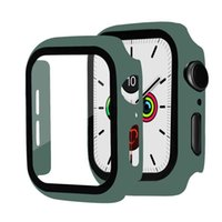 360 Full Screen Protector Frame PC Hard Cases With Tempered Glass Film for Apple Watch 5 4 3 2 1 Cover iWatch 38mm 42 mm 40mm 44mm