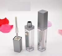 7ML LED Empty Lip Gloss Tubes Square Clear Lipgloss Refillable Bottles Container Plastic Lipstick Makeup Packaging with Mirror and Light SN2273