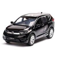 132 Honda CRV Çinko Alaşım Off-Road Modeli Carchildrens SUV Oyuncak Ses ve Işık Geri Metal Modeli Geri Çekin