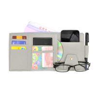 Zipper Multifunction Car Sun Visor Holder Sunshade CD Storage Case Interior Organizer Pen Cards Coin Clip Bag Folder Wallet