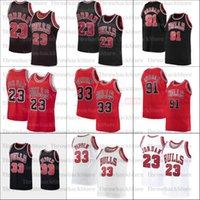 2021 Basketball Jersey 23 Michael 33 Pippen 91 Rodman Männer Frauen Jugend weiß Schwarz Rot I