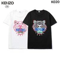 EUROPEEN BR American Mode Takata T-shirt Col T-shirt pour femmes 2020 Nouveau Teillisseur TIGER Broderie Sleeve Sleeve YW