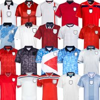 Retro World Cup 2002 England INGLATERRA FÚTBOL JERSEY local visitante camiseta de fútbol ROONEY Lampard BECKHAM OWEN 1982 KEEGAN McDERMOTT Shearer 1998 kits