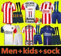 2021 2022 Chivas Soccer Maillots 21 22 LIGA MX DEPORTIVO GUADALAJARA E.LOPEZ A.VEGA MACIAS U.Antuna Shirt Football Hommes Kit Kit