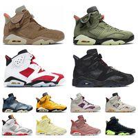 Nike Air Jordan Retro 6 Hommes Femmes Chaussure de basket-ball Jordans 6s Jumpman Aj Carmine VI Travis Scott Cactus Jack Singles Day Khaki Sail Smoke Grey Hare Baskets de sport