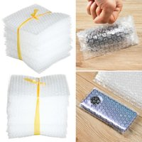 Storage Bags 50 Pcs Plastic Protective Wrap Envelope White Bubble Foam Packing PE Clear Bag Shockproof Double Film Cushioning