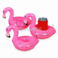 Mini Flamingo Pool Pool Float Держатель для напитков может надуваться надувной плавательный бассейн для купания Beach Party Party Party Toys FY7212