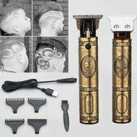 Capelli professionali Capelli Barbiere taglio di capelli Scultura taglierina ricaricabile Trimmer regolabile regolabile bordo cordless per uomo rasoio x0625
