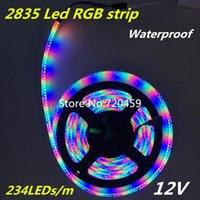 LED RGB STRIRT High Bright 234 Lámpara Siete Color Allochroism con luces SMD Strips impermeables