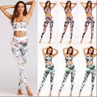 US Crop Top Leggings Trousers Womens Tracksuits Gym Workout Outfit Set Athletic Apparel