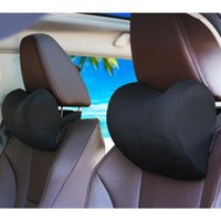 Seat Cushions Car Accessories Headrest Pillow Neck Supportor Head Rest Memory Foam Cushion Fabric Cover Soft Comfortable Automobile Travel K