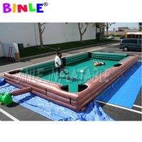 9x6m Outdoor o interior gigante Inflatable Snooker Football Pool Table Human Soccer Billiards Field Field para eventos de copange juego