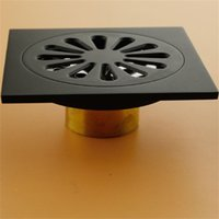 Modern Pure Black Invisible Shower Floor Drain  Bathroom Balcony Use Brass Material Rapid Drainage Tile Insert Square Drains 609 R2