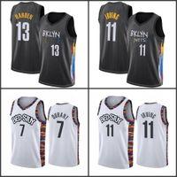 James 13 Harden Men Jerseys Pallacanestro BrooklynRetiKyrie 11 Mens Irving College Kevin 7 Durant Esterna Jersey Camisetas de Baloncesto 2021 stock S-XXL