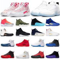 2021 Jumpman12 Sapatos de Basquete 12s Baixa Páscoa Lagoa Pulse CNY Jogo Royal UNC Universidade Azul Rosa Mens Mulheres Top Quality Outdoor Sports Sneakers