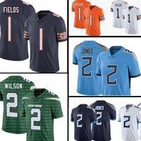 1 Justin Fields Jersey Zach Wilson 2 Julio Jones Futbol Formaları 5 Trey Lance 2021