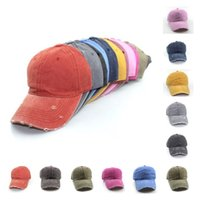 Party Hats Water washes holes Sun hat 11 Styles Retro Baseball Cap adult summer Adjustable Trucker Hat T2I52192