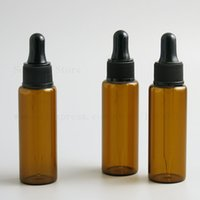 Amber Glass Dropper Bottles With Black Cap for Essential Oil Perfume Sample Bottle Aromatherapy 10ml 30ml 1oz 500pcs