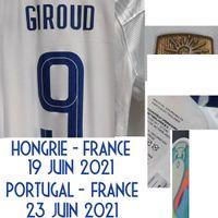 Correspondente Jogador desgastado Problema Mbappe Griezmann Giroud Kant com MatchDetails Futebol Patch Badge