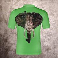 Летние мужские и женские спортивные досуг поло рубашка рубашка задняя часть больших животных шаблон свободный отворот сплошной футболки с коротким рукавом спортивная одежда