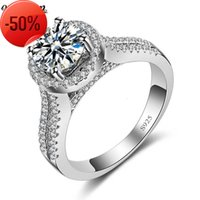 Vecalon Crown Style 3ct Diamonique Cz 925 Sterling Silver Engagement Wedding band Ring for Women Fashion Jewelry