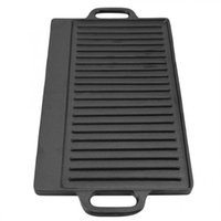 Pans Non-Stick Cast Iron Grill Griddle Pan Ridged And Flat Double-Sided Baking Cooking Tray Bakeware Saucepan