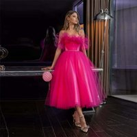 Ruffles Strapless Modern Homecoming Dresses with Beaded Sash Lace Up Sexy Backless Cocktail Party Gowns Tea Length Tulle A Line Bride Vestidos