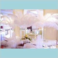 Событие для декора партии Party Profitive Home Сад натуральный натуральный страус перо шлейф белый свадебный центральный стол Центральный стол 10 шт.