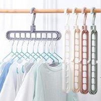 Multi-Port-Support-Kleiderbügel Kleidung Racks Multifunktions-Trocknung Kleiderbügel Housekeeping Organization Magic Rack ZzF8784