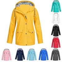 coat autumn and winter new style horn buckle women's thick mid-length hooded large size S-5XL Trench Outdoor mountaineering jacket