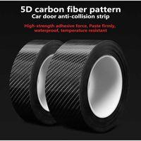 3D Carbon Fiber Car Sticker Protector Strip Nano Sticker Auto Door Sill Anti Scratch Tape Collision Scuff Diy Paste Protection