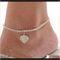 Charm Bracelets Jewelry Drop Delivery 2021 S Heart Women Chain Anklet Ankle Bracelet Sexy Barefoot Sandal Beach Foot For Lady Perfect Gift 8Q