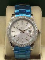 남성용 시계 패션 2813 41mm Dayjust 자동 기계 운동 시계 실버 스테인레스 스틸 다이아몬드 남자 시계 남자 손목 시계